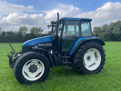 Lot 12 - New Holland TS115 Turbo with 2.5 Tonne Zuidberg Front Linkage & PTO – VAT